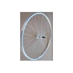 Roue à pneu arrière 700 CLASSIQUE vtc - roue-libre à vis - jante alu - moyeu alu - axe à blocage rapide - 700.