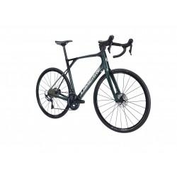 Vélo course 700 carbone - LAPIERRE 2021 Pulsium Sat 6.0 Disc - Vert bouteille irisé Décor noir et blanc : 2x11v