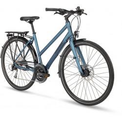 Vélo urbain route femme 28p alu STEVENS Galant Lite Lady bleu argent décor bleu acier et noir
