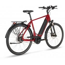 Vélo électrique urbain 28p alu - STEVENS 2021 E-Courier PT5 Gent 500 - Rouge poivre décor noir : 63mm