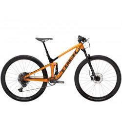 Vélo vtt 29 alu TREK 2021 Top Fuel 7 SX 29 orange décor noir brillant