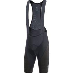Cuissard à bretelles - GORE Magix - noir décor marron : insert mousse confortable et élastique - tissu léger et respirant