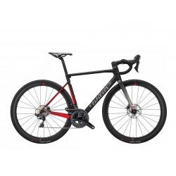 Vélo course 700 carbon WILIER 2022 Zéro SL Disc Rival noir décor rouge