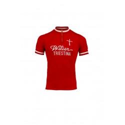 Maillot manches courtes - WILIER Vintage 1975 - rouge décor blanc