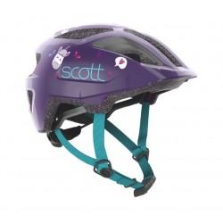 Casque enfant - SCOTT Spunto Kid - violet foncé décor turquoise