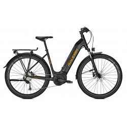 Vélo électrique VTC Femme 27P - RALEIGH 2021 Dundee LTD - Noir minéral mat décor orange