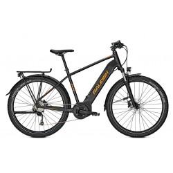 Vélo électrique VTC Homme 27P - RALEIGH 2021 Dundee LTD - Noir minéral mat décor orange