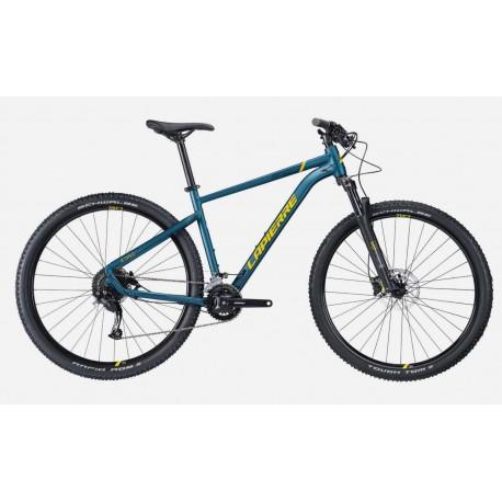 Vélo VTT 29p alu - LAPIERRE 2022 Edge 5.9 - Gris cendres décor orange néon