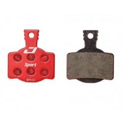 Plaquettes de frein JAGWIRE Magura support acier Semi-Métallic Rouge