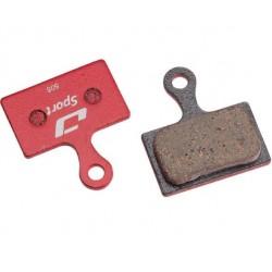 Plaquettes de frein JAGWIRE SHIMANO support acier Sport semi-métallic rouge