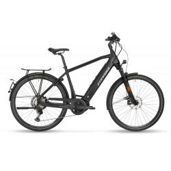 Vélo électrique urbain alu - STEVENS 2021 E-Triton 45 - Noir mat décor gris