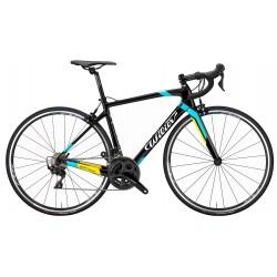 Vélo course 700 carbon - WILIER 2021 GTR Team Rim 105 - noir brillant décor bleu, jaune et blanc