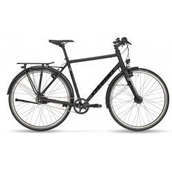 Vélo urbain homme 28p - STEVENS 2021 City Flight - noir mat décor noir brillant