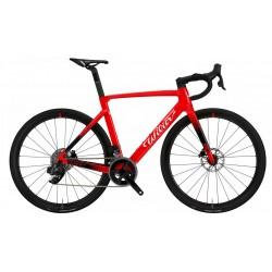 Vélo course 700 carbon - WILIER 2021 Cento 10 SL Rim - rouge brillant décor noir et blanc