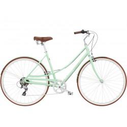 Vélo ville femme - ELECTRA 2022 Loft 7D cadre ouvert Ladies - Vert clair Seafoam