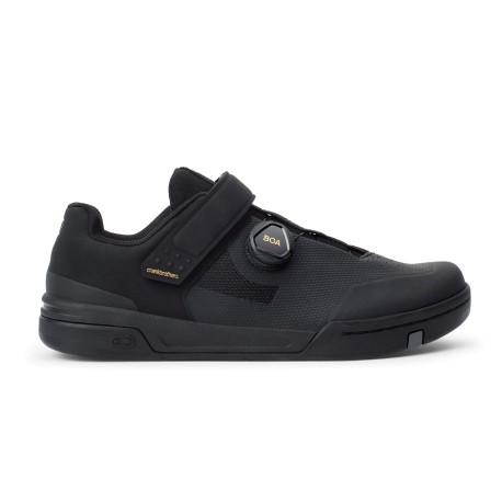 Chaussures vtt - CRANKBROTHERS Stamp Boa - noir : semelles larges pour pédales plates avec crampons en gomme - serrage par