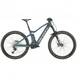 Vélo électrique VTT 29p alu - SCOTT 2022 Genius eRide 920 625 - Bleu décor gris argent