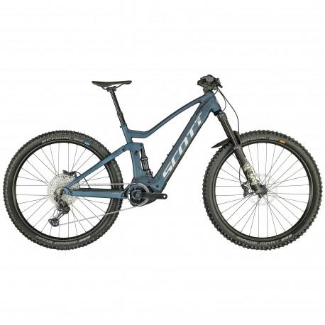 Vélo électrique VTT 29p alu - SCOTT 2021 Genius eRide 920 625 - Bleu décor gris argent