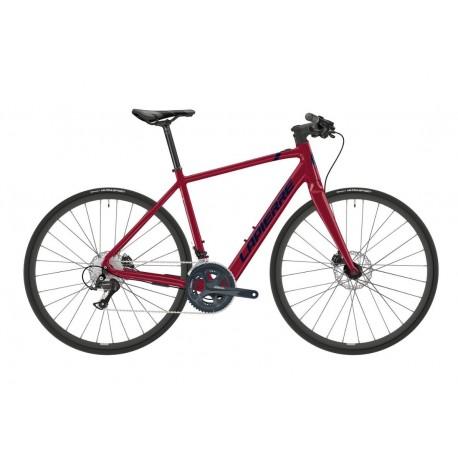 Vélo électrique route alu 700 - LAPIERRE 2021 E.Sensium 2.2 250 guidon plat - Rouge décor noir