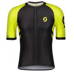Maillot manches courtes - SCOTT RC Premium Climber - Noir décor jaune