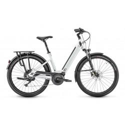 Vélo électrique vtc 27.5p - MOUSTACHE 2021 alu Samedi 27 Xroad 3 Open 625 - blanc grisé