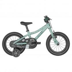 Vélo VTT enfant 3 à 5 ans alu 14p - SCOTT 2022 Contessa 14 - Bleu clair décor licornes