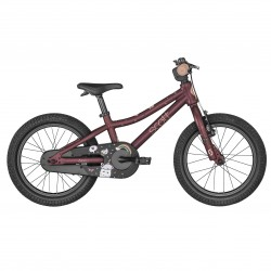 Vélo VTT enfant 4 à 6 ans alu 16p - SCOTT 2022 Contessa 16 - Mauve décor licornes
