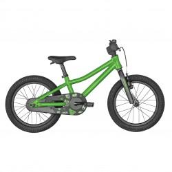 Vélo VTT enfant 4 à 6 ans alu 16p - SCOTT 2022 Roxter 16 - Vert à motifs