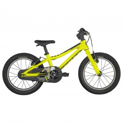 Vélo VTT enfant 4 à 6 ans alu 16p - SCOTT 2022 Scale 16 - jaune décor noir