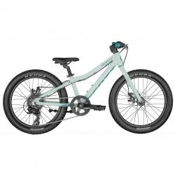 Vélo VTT enfant 5 à 8 ans 20p alu - SCOTT 2022 Contessa 20 Rigide - Bleu clair décor bleu
