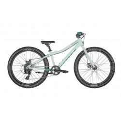 Vélo VTT enfant 8 à 11 ans alu 24p - SCOTT 2022 Contessa 24 fourche rigide - Bleu clair décor bleu