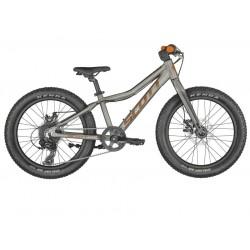 Vélo VTT enfant 5 à 8 ans alu 20p - SCOTT 2022 Roxter 20 Raw Alloy - Gris décor orange : fourche rigide