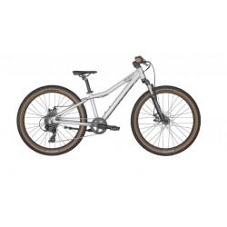 Vélo VTT enfant 8 à 11 ans alu 24p - SCOTT 2022 Scale 24 Disc Silver - Gris décor noir