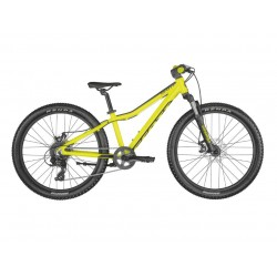 Vélo VTT enfant 8 à 11 ans alu 24p - SCOTT 2022 Scale 24 Disc Yellow - Jaune décor noir