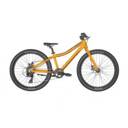 Vélo VTT enfant 8 à 11 ans alu 24p - SCOTT 2022 Scale 24 Rigid - Orange décor noir : fourche rigide