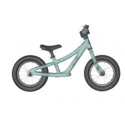 Vélo VTT draisienne enfant 18 à 30 mois alu - SCOTT 2022 Contessa Walker 12 - Bleu ciel décor licornes : sans pédalier