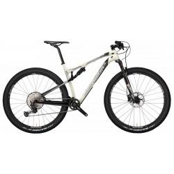Vélo vtt carbon WILIER 2021 110 FX XT 2.0 - Blanc crème décor gris et noir : 100/100mm