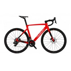 Vélo course 700 carbon - WILIER 2021 Cento10 SL Disc - Rouge décor noir et blanc