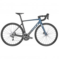 Vélo course 700 carbone - SCOTT 2022 Addict RC 40 - Bleu et noir décor blanc