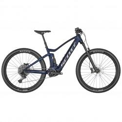 Vélo électrique VTT 29p alu - SCOTT 2022 Strike eRide 940 500 - Bleu nuit décor noir