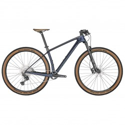 Vélo VTT 29p carbone - SCOTT 2022 Scale 925 - Bleu nuit décor bleu gris