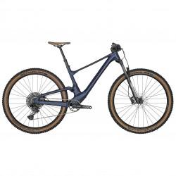 Vélo VTT 29p alu - SCOTT 2022 Spark 970 Blue - Bleu foncé brillant décor blanc décor