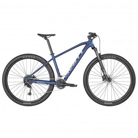 Vélo VTT 29p alu - SCOTT 2022 Aspect 940 Blue - Bleu foncé décor blanc