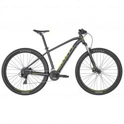 Vélo VTT 29p alu - SCOTT 2022 Aspect 960 Black - Noir métallisé décor jaune