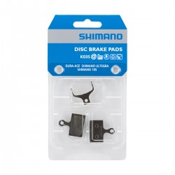 Plaquettes de frein SHIMANO support acier K02S sans ventilation
