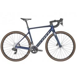 Vélo course 700 carbone - SCOTT 2022 Addict 10 Blue - Bleu marine décor argent