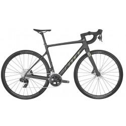 Vélo course 700 carbone - SCOTT 2022 Addict 10 Carbon Black - Noir mat décor doré