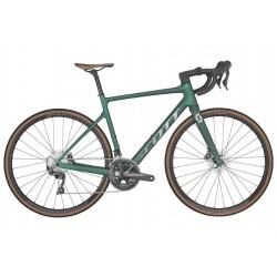 Vélo course carbone 700 - SCOTT 2022 Addict 20 Prism Green - Vert métallisé décor argent