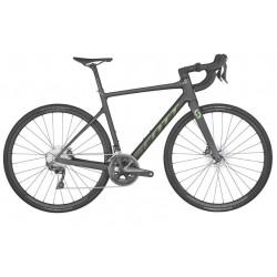 Vélo course carbone 700 - SCOTT 2022 Addict 20 Carbon Black - Noir mat décor vert métallisé
