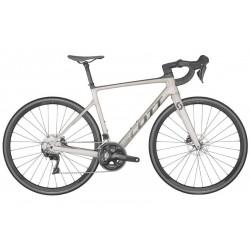Vélo course carbone - SCOTT 2022 Addict 30 Prism Grey - Gris clair décor gris anthracite